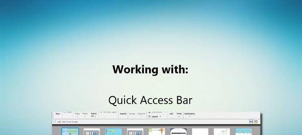 Schakelen tussen diagrammen met de Quick Access Bar in Visual Paradigm