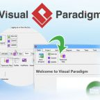 Visual Paradigm 13.1 met gepersonaliseerd menu